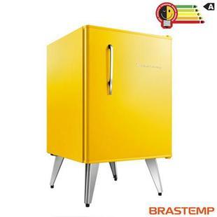 Frigobar Brastemp Retrô com 76 Litros de Capacidade e Controle Automático de Temperatura Amarelo - BRA08BY