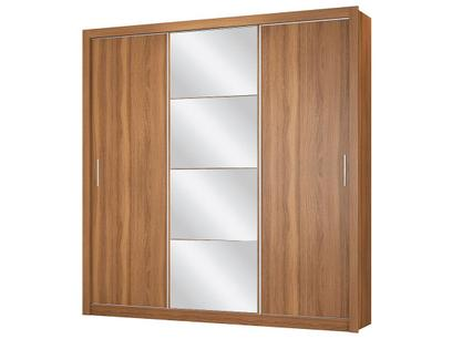 Guarda-roupa Casal com Espelho 3 Portas de Correr - 2 Gavetas Demóbile Residence Flex