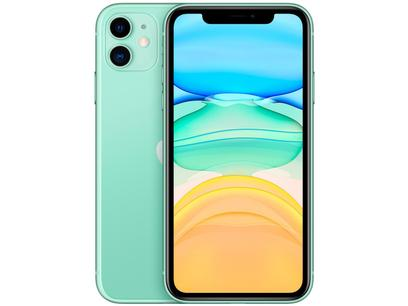"iPhone 11 Apple 256GB Verde 6,1"" - Câm. Dupla 12MP iOS"