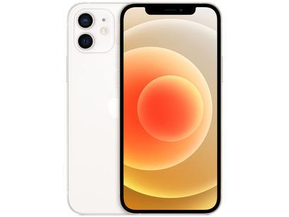 "iPhone 12 Apple 64GB Branco 6,1"" - Câm. Dupla 12MP iOS + AirPods"