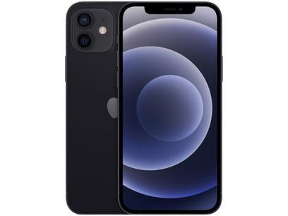 "iPhone 12 Apple 64GB Preto 6,1"" Câm. Dupla 12MP - iOS"