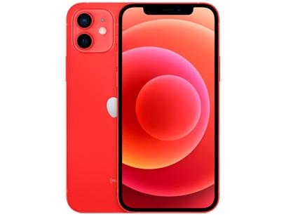 """iPhone 12 Apple 64GB (PRODUCT)RED 6,1"""" - Câm. Dupla 12MP iOS + AirPods"""