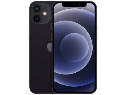 "iPhone 12 Mini Apple 128GB Preto 5,4"" - Câm. Dupla 12MP iOS"