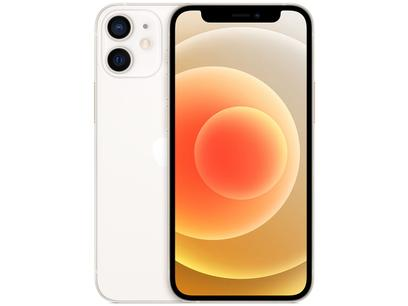 "iPhone 12 Mini Apple 64GB Branco 5,4"" - Câm. Dupla 12MP iOS"