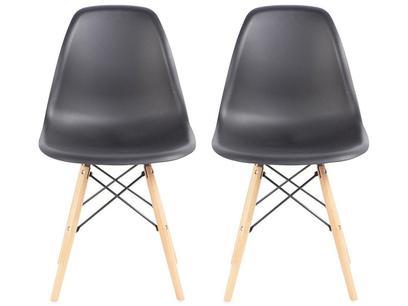 Jogo de Cadeiras Pé Palito Assento Preto Nell - EAM-PR1