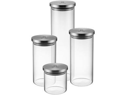 Jogo de Potes de Vidro Hermético Electrolux - com Tampa Redondo A18848101 4 Peças