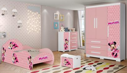 Jogo de Quarto Completo Infantil Minnie - Loja Tigus Rosa