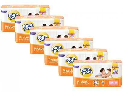 Kit Fraldas Pom Pom Protek Proteção de Mãe - Tam. SXG 14 a 18kg 6 Pacotes com 10 Unidades Cada