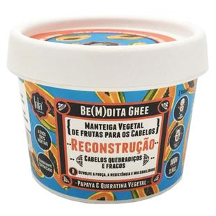 Lola Cosmetics Be(m)dita Ghee Papaya e Queratina Vegetal - Máscara de Reconstrução