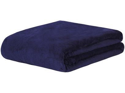 Manta Casal Sultan Poliéster Sonhare Azul Marinho