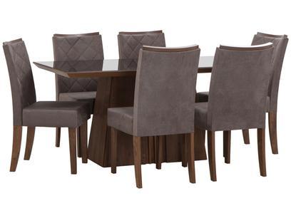Mesa de Jantar 6 Cadeiras Retangular - DJ Móveis Itália