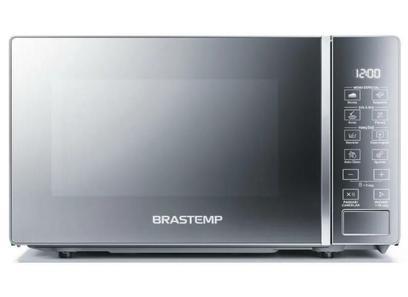 Micro-ondas Brastemp 20 Litros com Funções Pré-preparo Inox Espelhado BMS20AR 127 volts