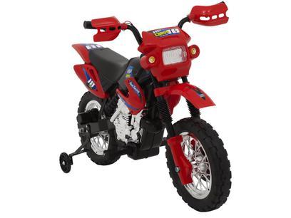 Mini Moto Elétrica Infantil Cross 6V - Homeplay