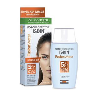 Protetor Solar Facial Isdin - Fotop Fusion Water 5 Stars FPS60