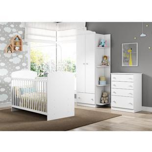 Quarto de Bebê Completo Confete - Branco/Colorido - Multimóveis Branco/Colorido