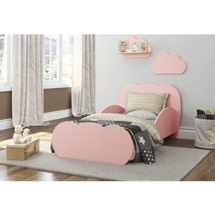 Quarto de Bebê Nuvem Mini Cama 2 Prateleiras - Rosa - Multimóveis Rosa