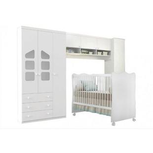 Quarto Infantil Modulado Com Berço Doce Sonho Branco - Phoenix baby