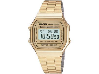 Relógio Unissex Casio Digital - A-168WG-9WDF Dourado