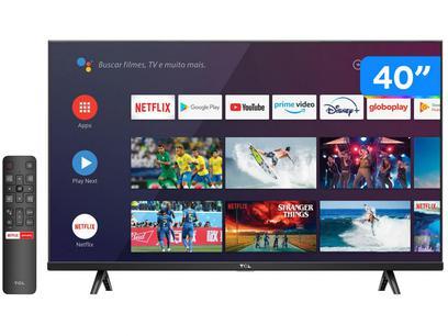 "Smart TV 40"" Full HD LED TCL S615 VA 60Hz - Wi-Fi e Bluetooth 2 HDMI 1 USB"