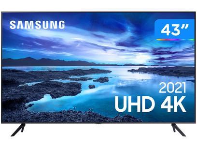 """Smart TV 43"""" Crystal 4K Samsung 43AU7700 Wi-Fi - Bluetooth HDR Alexa Built in 3 HDMI 1 USB"""