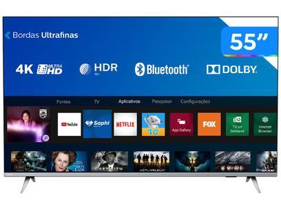 "Smart TV 4K LED 55"" Philips 55PUG6654/78 - Wi-Fi Bluetooth HDR 3 HDMI 2 USB Bordas Ultrafinas"