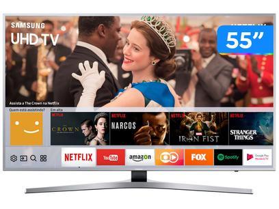 """Smart TV 4K LED 55"""" Samsung UN55MU6400GXZD - Wi-Fi 3 HDMI 2 USB"""