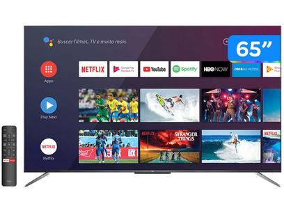 """Smart TV 4K QLED 65"""" TCL C715 Android - Wi-Fi Bluetooth HDR 3 HDMI 2 USB"""