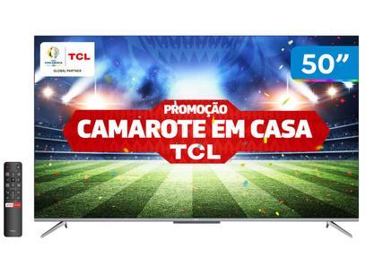 "Smart TV 4K UHD LED 50"" TCL 50P715 Android Wi-Fi - Bluetooth 3 HDMI 2 USB"