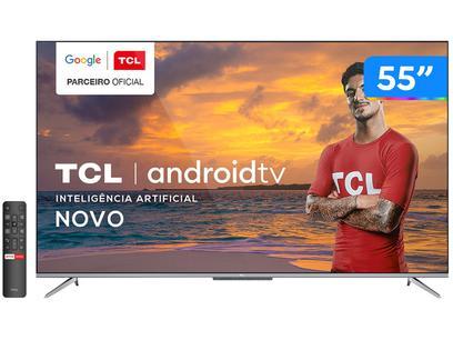 "Smart TV 4K UHD LED 55"" TCL 55P715 Android Wi-Fi - Bluetooth 3 HDMI 2 USB"