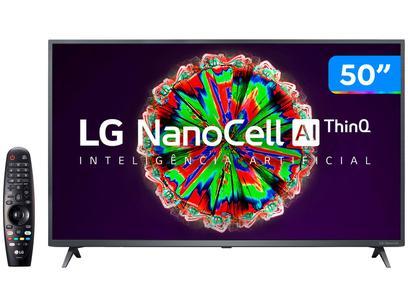 "Smart TV 4K UHD NanoCell 50"" LG 50NANO79SND - Wi-Fi Bluetooth Inteligência Artificial 3 HDMI"