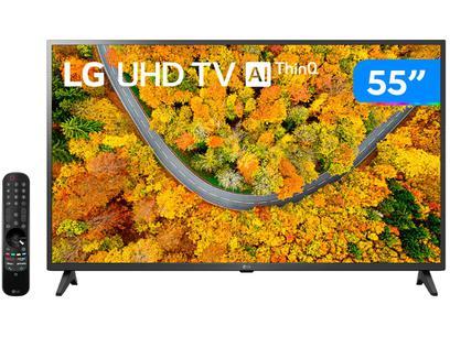 "Smart TV 55"" Ultra HD 4K LED LG 55UP7550PSF - 60Hz Wi-Fi e Bluetooth Alexa 2 HDMI 1 USB"