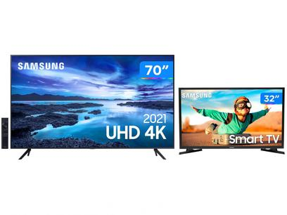 "Smart TV 70"" Crystal 4K Samsung 70AU7700 Wi-Fi - Bluetooth HDR + Smart TV HD LED 32"""