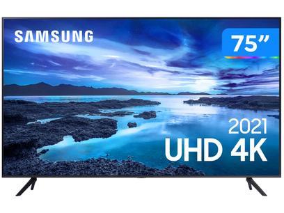 """Smart TV 75"""" Crystal 4K Samsung 75AU7700 Wi-Fi - Bluetooth HDR Alexa Built in 3 HDMI 1 USB"""