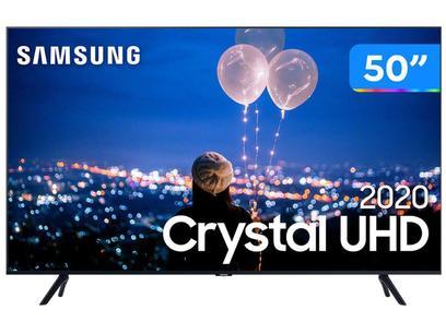 "Smart TV Crystal UHD 4K LED 50"" Samsung - 50TU8000 Wi-Fi Bluetooth HDR 3 HDMI 2 USB"