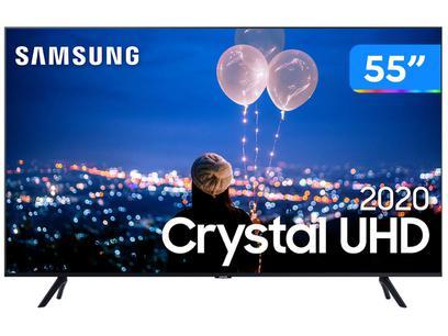 "Smart TV Crystal UHD 4K LED 55"" Samsung - 55TU8000 Wi-Fi Bluetooth HDR 3 HDMI 2 USB"