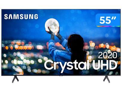 "Smart TV Crystal UHD 4K LED 55"" Samsung - UN55TU7000GXZD Wi-Fi Bluetooth 2 HDMI 1 USB"
