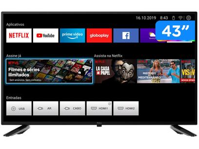 "Smart TV Full HD D-LED 43"" Philco PTV43E10N5SF - Wi-Fi 2 HDMI 2 USB"