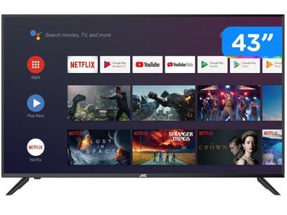 "Smart TV Full HD DLED 43"" JVC LT-43MB308 Android - Wi-Fi Bluetooth HDR 3 HDMI 2 USB"