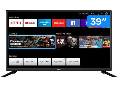 "Smart TV HD 39"" Philco PTV39G60S Wi-Fi - HDR 2 HDMI 1 USB"