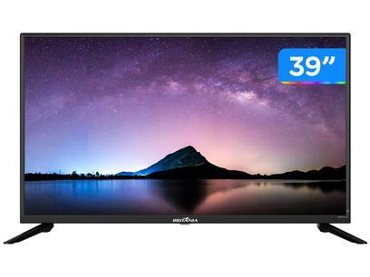 "Smart TV HD D-LED 39"" Britânia BTV39G60N5CH - Wi-Fi 2 HDMI USB"