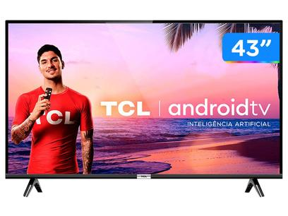 """Smart TV LED 43"""" TCL 43S6500 Full HD - Android Wi-Fi 2 HDMI 1 USB"""