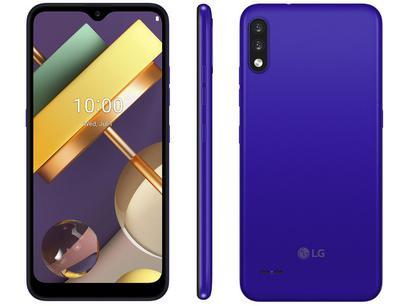 "Smartphone LG K22+ 64GB Blue 4G Quad-Core 3GB RAM - Tela 6,2"" Câm. Dupla + Selfie 5MP Dual Chip"