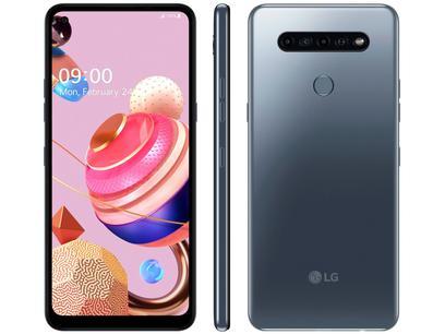 "Smartphone LG K51S 64GB Titânio 4G Octa-Core - 3GB RAM 6,55"" Câm. Quádrupla + Selfie 13MP"