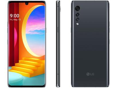 "Smartphone LG Velvet 128GB Aurora Gray Octa-Core - 6GB RAM Tela 6,8"" Câm. Tripla + Selfie 16MP"