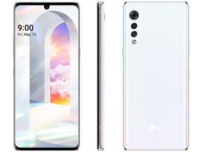 "Smartphone LG Velvet 128GB Aurora White Octa-Core - 6GB RAM Tela 6,8"" Câm. Tripla + Selfie 16MP"