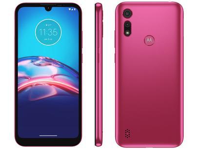 "Smartphone Motorola Moto E6S 32GB Pink 4G - Octa-Core 2GB RAM 6,1"" Câm. Dupla + Selfie 5MP"