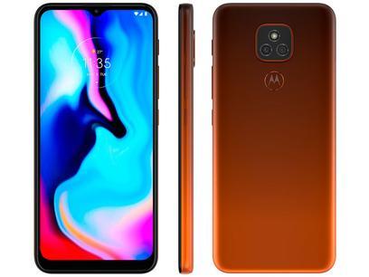 "Smartphone Motorola Moto E7 Plus 64GB Bronze Âmbar - 4G Octa-Core 4GB RAM 6,5"" Câm. Dupla + Selfie 8MP"