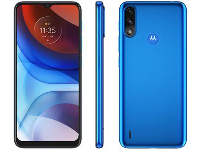"""Smartphone Motorola Moto E7 Power 32GB Azul - Metálico 4G 2GB RAM 6,5"""" Câm. Dupla + Selfie 5MP"""