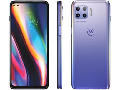 "Smartphone Motorola Moto G 5G Plus 128GB - Lilás Prisma 5G 8GB RAM Tela 6,7"" Câm. Quádrupla"