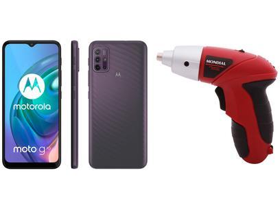 Smartphone Motorola Moto G10 64GB Cinza Aurora - 4G 4GB RAM + Parafusadeira Mondial